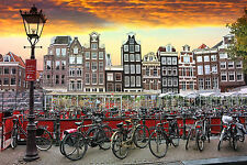 STUNNING CANVAS AMSTERDAM CITYSCAPE SKYLINE #478 WALL HANGING PICTURE ART A1