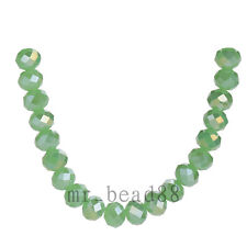 3x4mm Jade Green AB Faceted Loose Rondelle 5040# Crystal Glass Beads 200pcs