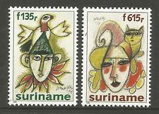 SURINAM. 1995. Paintings by Corneille Set. SG: 1651/52. Mint Never Hinged.