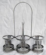 Antique Victorian / Edwardian Silver Plate / Plated Pickle or Preserve Caddy