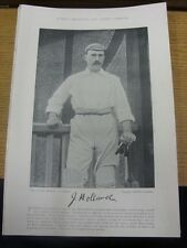 1895 Cricket: Famous Plate/Picture - Holland, J [Leicestershire] - on reverse -