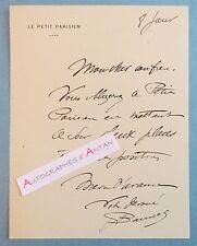 L.A.S M BANNEL Le Petit Parisien - lettre billet autographe - Monde du spectacle