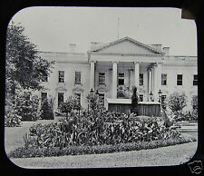 Glass Magic lantern slide THE WHITE HOUSE WASHINGTON C1890 USA AMERICA L69