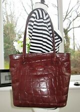 Authentic VINTAGE Mulberry BROWN IN PELLE Congo Borsa A Tracolla Mano Hoxton