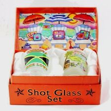 JAMAICA BEACH CHAIRS BOXED SHOT GLASS SET (SET OF 2)