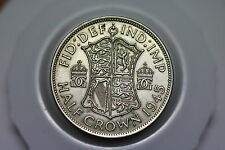 UK GB HALF CROWN 1945 SILVER NICE DETAILS A57 #Z5866
