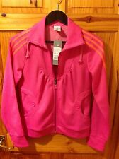Womens adidas pink track suit top size 12 BNWT