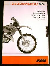 Manuel d'utilisation KTM 125/200/250/300 SX XC XC-W EXC 2006  3.211.72DE