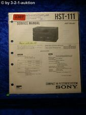 Sony Service Manual HST 111 Component System (#3307)