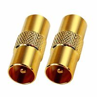TV Aerial RF Coax Cable Lead Adaptor Plug Male to Male TV Accessories Socket