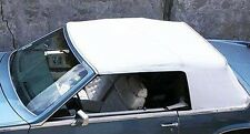 BUICK RIVIERA (ASC) 82-86 CONVERTIBLE TOP + DEFROSTER GLASS - WHITE