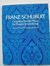 Schubert Chamber Music Piano Strings Score Trout Others Unmarked