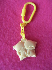 Sanrio LITTLE TWIN STARS MINI KEY CHAIN Vintage 1976 New