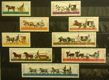 POLAND-STAMPS MNH Fi1495-03 SC1378-86 Mi1644-52 - Horse-drawn carts, 1965
