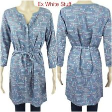 White Stuff tunic top blue  paint pot design Ex white stuff size 12