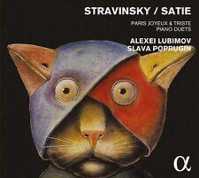 Paris joyeux et triste: Piano Duets Stravinsky / Satie - Lubimov / Poprugin - CD
