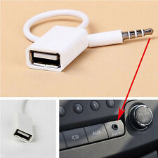 3.5mm Male AUX Audio Plug Jack To USB 2.0 Female Converter Cable Adapter For Car