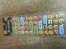 36 3D EMOJI EMOTICON  STICKERS FOR PENCIL CASE TABLET ETC WATER PROOF  QUALITY