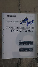 toshiba tx-904 914 service manual original repair book stereo car cd 83 pages!