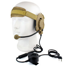 Z Tactical Bowman Elite II cuffia+Waterproof PTT Right/Left Ear for Kenwood IT
