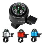 MTB Bicycle Bike Cycling Handlebar Alarm Metal Ring Bell Horn with Compass New