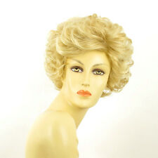 short wig women curly golden blond wick very light blond ref: KIMBERLEY 24BT613