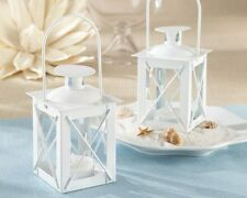 24 White Mini Lanterns Tea Light Beach Wedding Favors Decorations Q31696