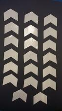 Reflective White Mini Chevron Vinyl Stickers 2 inch wide