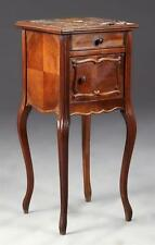 French Louis XV Style Carved Mahogany Marble Top Nightstand, c. 1900... Lot 2540