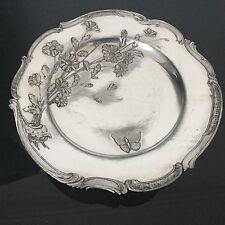 Coupe Sur Pied 1900 en Métal Argenté Papillon Art Nouveau Antique Jugendstil