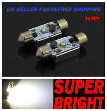 2X Cree 5 Watts 6000K LED White SMD Map/Dome Interior Lights Bulbs 36MM Festoon