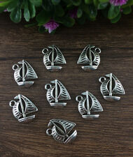 Wholesale 10pcs Tibet silver Sailing Charm Pendant beaded Jewelry Findings HOT