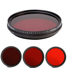 52mm 6 in1 Adjustable Optical Infrared IR Pass X-Ray Lens Filter 530nm to 750nm