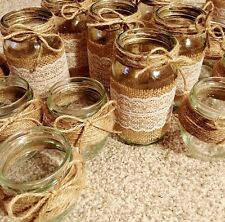 10 X Mixed Glass Jars - Vases - Vintage - Wedding Centrepiece Shabby Chic Empty