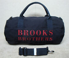 "BROOKS BROTHERS - Blue with Red Design - 20"" Unisex Travel Duffle Duffel Gym Bag"