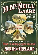 Art Poster Larne Co Antrim Cheap Holiday Ireland  Print