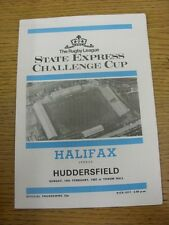 14/02/1982 Rugby League Programme: Halifax v Huddersfield [Challenge Cup] . Than