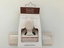 NIP Martha Stewart Crafts Embossed Scroll Lace Paper Punch