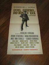 LOCANDINA,1970,QUEL GIORNO DIO NON C'ERA IL CASO DEFREGGER CIVIRANI