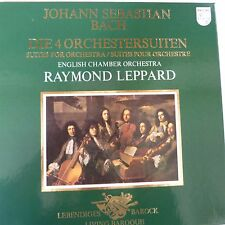 vinyl lp record BACH 4 suites for orchestra, R. Leppard, Philips 6768028 , 2LPs