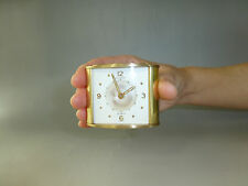 Jaeger Lecoultre Memovox Alarm Clock 8 Day Vintage Swiss Luxury Brass =SEE VIDEO