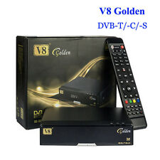 V8 Golden DVB-S2 + T2 + Cable HD  Support Biss Key Cccamd Newcamd USB Wifi IPTV