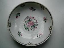 Chinese Famille rose porcelain saucer Chienlung late C 1700s