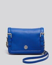NWT TORY BURCH IN PLASTIC  LEATHER CROSSBODY-BLOOM  SOLD OUT JELLY BLUE