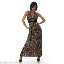 SeXy Damen Maxikleid - Leopard Look - Gr. M Maxi Kleid NEU Fashionbox24h MM1244