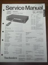Technics Service Manual for the SL-P720 CD Player~Repair~Original