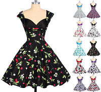 2015 Vintage Style Floral Swing 50s 60s pinup Full Circle Party Dress