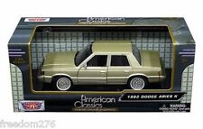 1982 DODGE ARIES CHAMPAGNE 1:24 DIECAST CAR BY MOTORMAX 73335