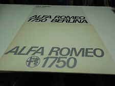 Alfa Romeo 1750 Berlina Sales Booklets (European + USA Version)