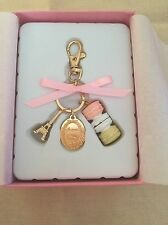 LADUREE Japan ❤ Key Chain Ring New Macaron Pink w/ Original Box